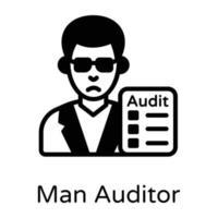 auditor homem e inspeção vetor