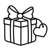 caixa de presente de amor vetor