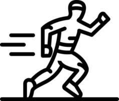 ícone de linha para correr vetor