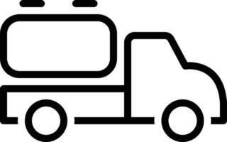 ícone de linha para caminhão tanque vetor