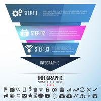 Modelo de design geométrico infográficos