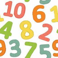 padrão uniforme, contando de 1 a 10 outros designs vetor