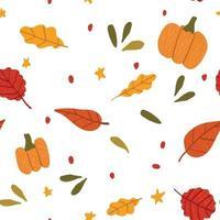 padrão sem emenda com folhas coloridas de outono vetor