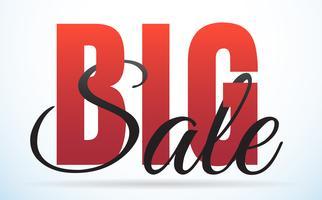 banner de modelo grande venda de fundo Vector