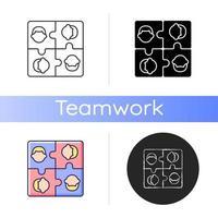 ícone de construção de equipe vetor