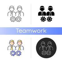 ícone de vetor de colaboração