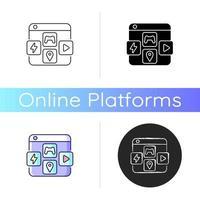 ícone de plataformas de distribuição de aplicativos vetor