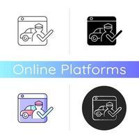 ícone de plataformas de saudação vetor