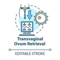 ícone do conceito de recuperação de óvulo transvaginal vetor