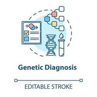 ícone do conceito de diagnóstico genético vetor