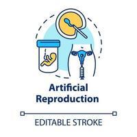 ícone do conceito de reprodução artificial vetor