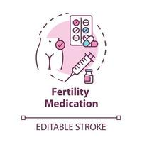 ícone do conceito de medicamento para fertilidade vetor