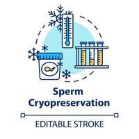 ícone do conceito de criopreservação de esperma vetor