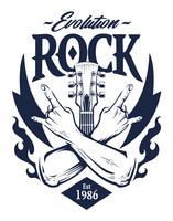 Arte vetorial de emblema de rock vetor