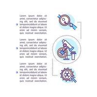 ícone do conceito de tecnologia reprodutiva com texto vetor