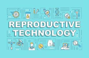 banner de conceitos de palavras de tecnologia reprodutiva vetor