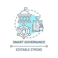 ícone de conceito azul de governança inteligente vetor