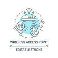 ícone de conceito azul de ponto de acesso sem fio vetor