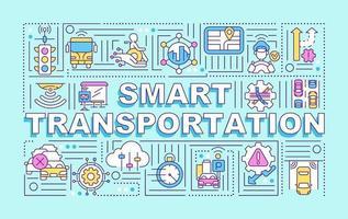 banner de conceitos de palavras de transporte inteligente vetor