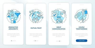 ótima comunicação na tela da página do aplicativo móvel vetor