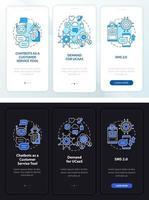 tela da página do aplicativo móvel de integração de correspondência on-line vetor