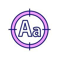 ícone de verificação ortográfica rgb vetor