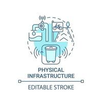 ícone de conceito azul de infraestrutura física vetor