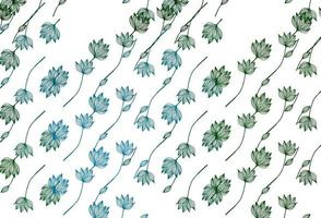 layout de doodle de vetor azul e verde claro.