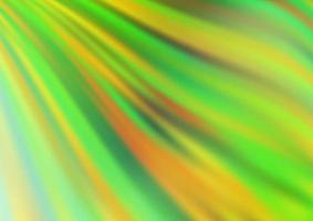 de fundo vector verde e amarelo claro com formas de bolha.