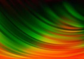 fundo escuro multicolorido do vetor do arco-íris com linhas abstratas.