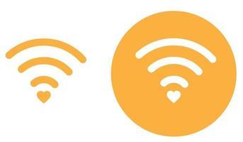 ícone de coração de wifi. ilustração vetorial vetor