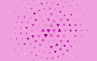 padrão de vetor roxo claro em estilo poligonal.