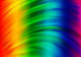 luz multicolor, fundo do vetor do arco-íris com círculos curvos.