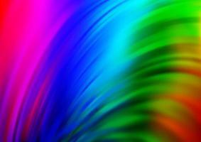 luz multicolor, padrão de vetor de arco-íris com círculos curvos.