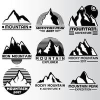 Modelo de Design de lable de montanha