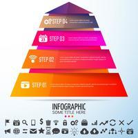 Modelo de design geométrico infográficos vetor