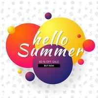 banner de modelo de venda de verão de fundo Vector