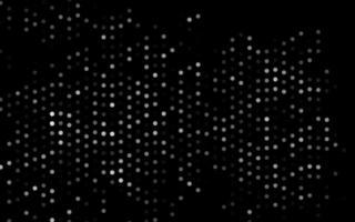 pano de fundo de vetor cinza escuro, prata com pontos.