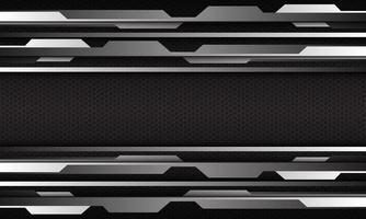 prata cibernética abstrata geométrica em vetor futurista de malha hexágono