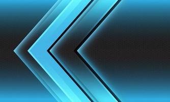 abstrato azul luz seta direção geométrica hexágono malha futurista vetor