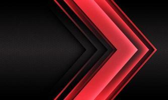 abstrato luz vermelha seta direção geométrica hexágono malha futurista vetor