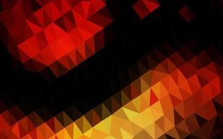 capa poligonal abstrata do vetor vermelho e amarelo escuro.
