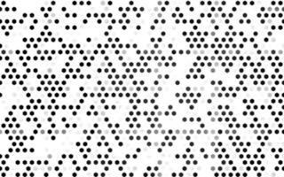 prata escuro, padrão de vetor cinza com hexágonos coloridos.