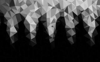 fundo de mosaico abstrato de vetor cinza claro prata.