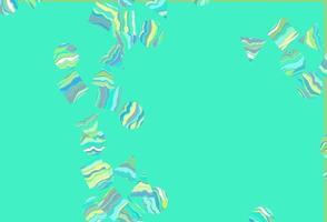 modelo de vetor azul claro, amarelo com cristais, círculos, quadrados.