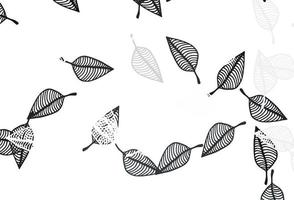 padrão de doodle de vetor preto claro.