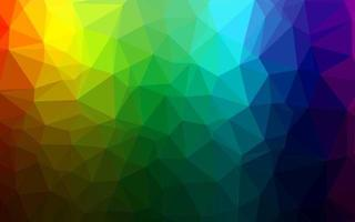 multicolor escuro, vetor de arco-íris brilhando com fundo triangular.