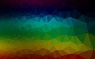 textura de triângulo embaçado de vetor de arco-íris multicolorido escuro.