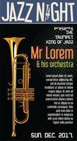 Poster Jazz Festival Trompete ilustração vetorial vetor