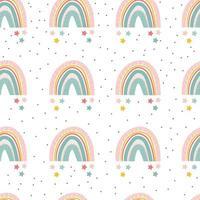 padrão sem emenda de lindo arco-íris colorido em estilo escandinavo. vetor